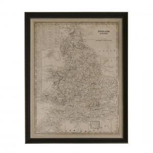 QUADRO MAPA ENGLAND